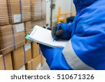closeup shooting hand of worker ...   Shutterstock . vector #510671326
