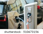 charging modern electric car on ... | Shutterstock . vector #510673156