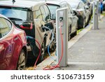 charging modern electric cars... | Shutterstock . vector #510673159