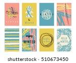 set of creative universal... | Shutterstock .eps vector #510673450