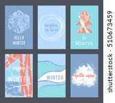 set of creative universal... | Shutterstock .eps vector #510673459
