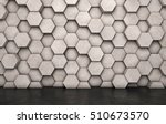 wall of concrete hexagons and... | Shutterstock . vector #510673570
