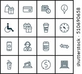set of transportation icons on... | Shutterstock .eps vector #510690658