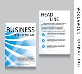 vector brochure flyer design... | Shutterstock .eps vector #510691306