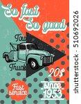 color vintage car tow truck...   Shutterstock .eps vector #510692026