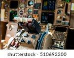 the pilots control panel inside ... | Shutterstock . vector #510692200