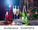 close up view of champagne with ...   Shutterstock . vector #510693514