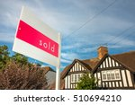 estate agency sold sign for a... | Shutterstock . vector #510694210