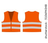 orange reflective safety vest... | Shutterstock .eps vector #510694348