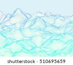 wavy linear colorful procedural ... | Shutterstock .eps vector #510695659