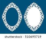 laser cut vector frame.... | Shutterstock .eps vector #510695719