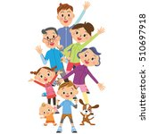 the tree generation family who... | Shutterstock .eps vector #510697918