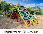 Playground Built With Old Tire...