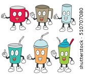 vector set of beverage cup | Shutterstock .eps vector #510707080