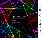 colored  random laser beams on... | Shutterstock .eps vector #510712840