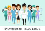 the concept of the clinic staff ... | Shutterstock .eps vector #510713578