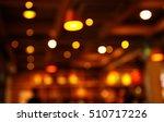 Blur Orange Light Lamp In Bar...