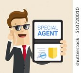 special services agent shows... | Shutterstock .eps vector #510720010