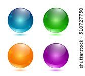 set of colored 3d buttons.... | Shutterstock .eps vector #510727750