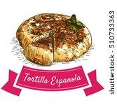 tortilla espanola colorful... | Shutterstock .eps vector #510733363