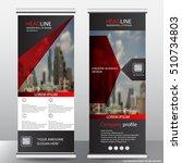 red roll up business brochure... | Shutterstock .eps vector #510734803