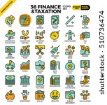 finance and taxation  business... | Shutterstock .eps vector #510736474