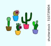 set of cactus. | Shutterstock .eps vector #510739804