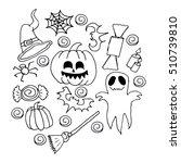 set for halloween. | Shutterstock .eps vector #510739810