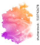 abstract purple watercolor on... | Shutterstock . vector #510742678