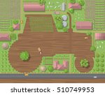 vector illustration. rural... | Shutterstock .eps vector #510749953