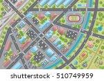 vector illustration. city top... | Shutterstock .eps vector #510749959