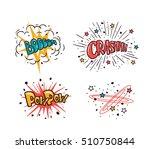 comic speech bubbles set... | Shutterstock .eps vector #510750844