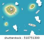 vector illustration. summer... | Shutterstock .eps vector #510751300
