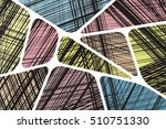 pattern geometric shapes with... | Shutterstock .eps vector #510751330