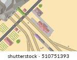 vector illustration. railroad... | Shutterstock .eps vector #510751393