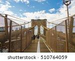 brooklyn bridge. view on... | Shutterstock . vector #510764059