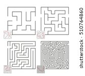 set of mazes 52 | Shutterstock .eps vector #510764860