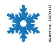Winter Hand Drawn Grunge Blue...
