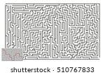 large vector horizontal maze... | Shutterstock .eps vector #510767833