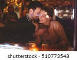 romantic couple dating at night ... | Shutterstock . vector #510773548