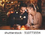 romantic couple dating at night ... | Shutterstock . vector #510773554