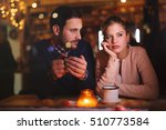 sad couple having a conflict... | Shutterstock . vector #510773584