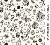 hand drawn winter pattern.... | Shutterstock .eps vector #510775828
