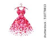 dress of pink rose petals.... | Shutterstock .eps vector #510778813