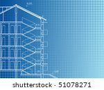 building background. plan of... | Shutterstock .eps vector #51078271