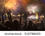 new year concept   cheering... | Shutterstock . vector #510788650