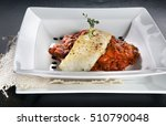 white fish a grill with... | Shutterstock . vector #510790048