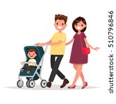 young family. parents with a... | Shutterstock .eps vector #510796846