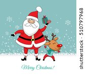 christmas card. santa claus and ...   Shutterstock .eps vector #510797968