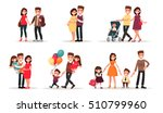 set of characters showing the... | Shutterstock .eps vector #510799960